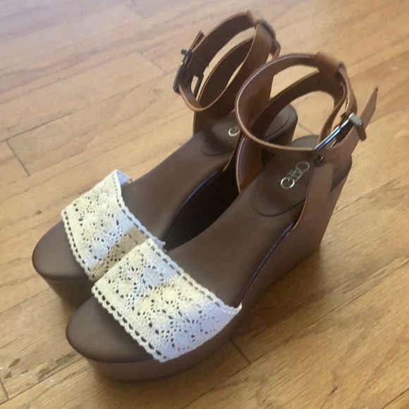 Cato Shoes - Crochet Wedges
